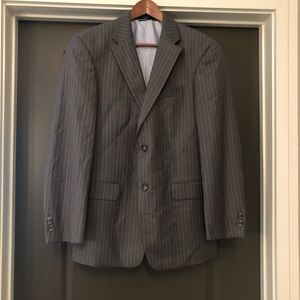 Tommy Hilfiger Men Blazer 100% Wool Gray S38